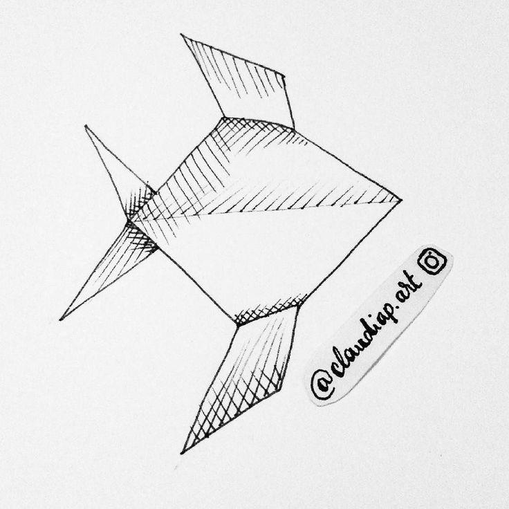 origami shark diagram