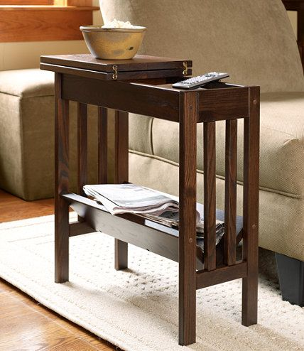 Mission Flip Top Side Table: End Tables | Free Shipping At L.L.Bean |  Living Room Ideas | Pinterest | Tables, Pallet House And Living Room Ideas