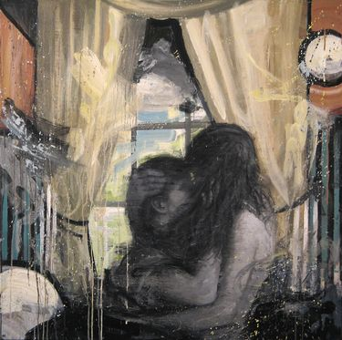 "Saatchi Online Artist Kjetil Jul; Painting, ""Embrace"" #art"