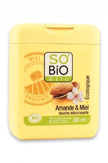 Gel douche amande & miel, So'Bio Etic