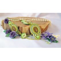 HomeJewelry & Watches Jewelry Necklaces OOAK Green soutache necklace This luxurious handmade jewelry will help you to create complete image and attracts the attention of others to your uniqueness and beauty.