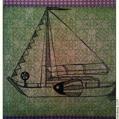 Tekening zeilboot