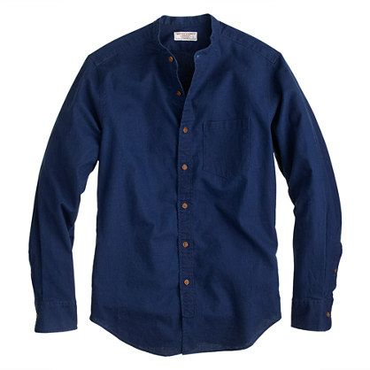 Wallace & Barnes band-collar shirt in Irish cotton-linen - wallace & barnes - Men's Men_Shop_By_Category - J.Crew