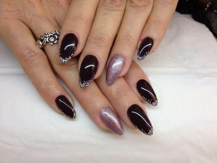 25 best My Work images on Pinterest | Black, Black almond nails and ...