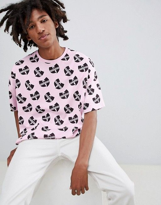 727b584e4a327 DESIGN Wu Tang oversized t-shirt with all over print in 2018
