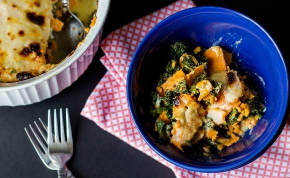 Sweet Potato & Kale Gratin | Natrel