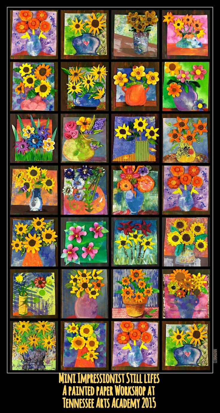 PAINTED PAPER: Tennessee Arts Academy 2015 - sunflowers