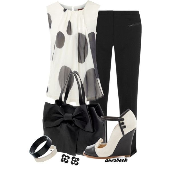 Black and White Wedge Pump by averbeek on Polyvore featuring мода, MaxMara, Dorothy Perkins, Moschino and RED Valentino