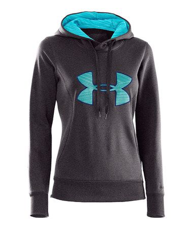 This Carbon Heather Armour® Fleece Storm Big Logo Hoodie by Under Armour® is perfect! #zulilyfinds Favorite Running Sweatshirt Ever