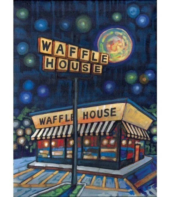Most Visited Waffle House In America It S On The Georgia Tech Campus Waffle House Houses In America Georgia Tech