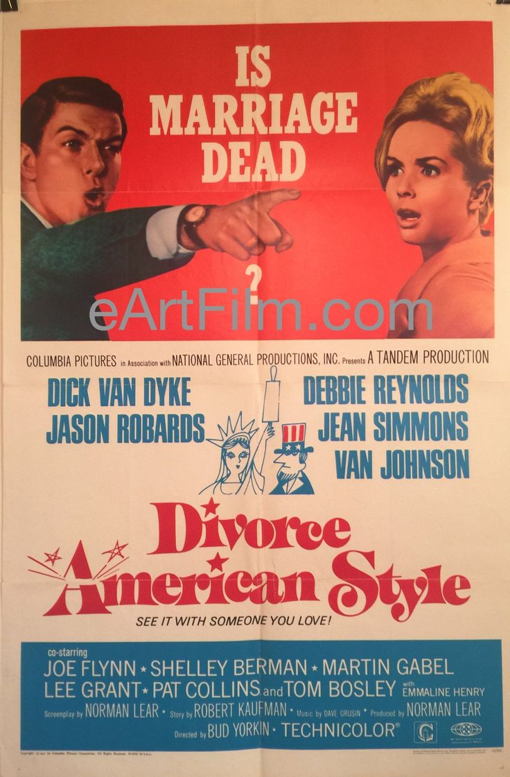 Happy #FourthofJuly https://eartfilm.com/search?q=red+white+and+blue #4thofJuly #July4th #JulyFourth #RedWhiteandBlue #America #USA #movies #posters #movieposters    Divorce American Style-Dick Van Dyke-Debbie Reynolds-Jason Robards-1967
