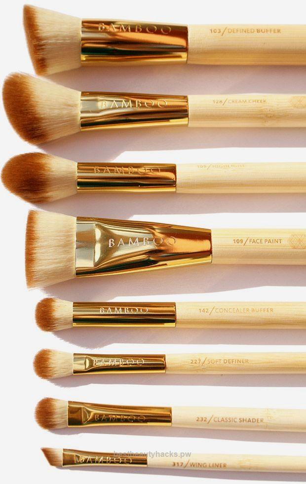 Makeup Brush Set Bamboo Brushes