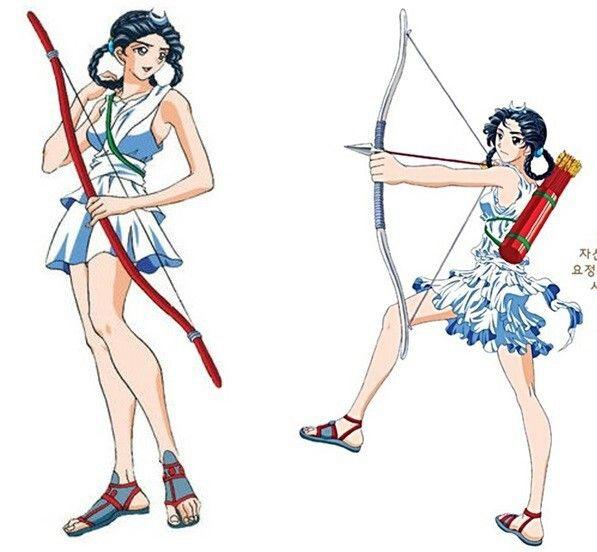 Artemis (Diana) - Hong Eun Young's Greek Roman Mythology (Korean Comics) 만화로 보는 그리스 로마 신화 - 아르테미스