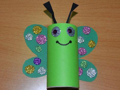 19 best images about decoraci n con rollos de papel on - Manualidades de papel reciclado ...