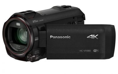 By@SimonCockingPanasonic camcorder 4K ultra high-definition HC-VX980 briefly reviewed, available to buy from panasonicstore.ie and major electronic retailers nationwide. This camera / camcorder is super light. Almost so light that you re worried you might break it. That said it captures good video footage, and picks up good audio as well. The zoom works well, and moves [ ]