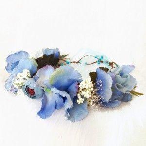 silk flower baby shower crown