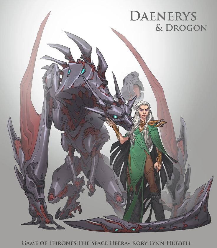 ArtStation - Game of Thrones, the Space Opera- Daenerys and Drogon, Kory Hubbell