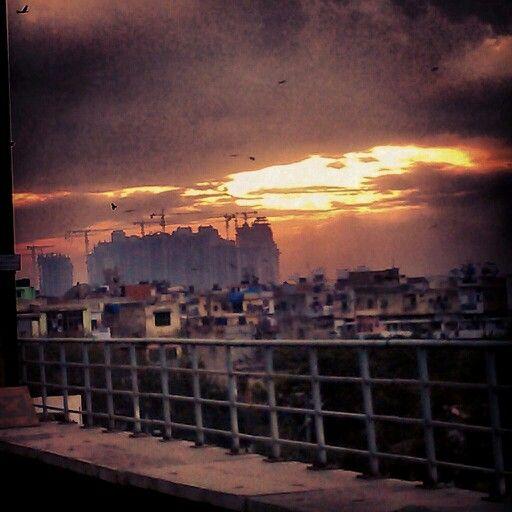 Sun set in Delh!