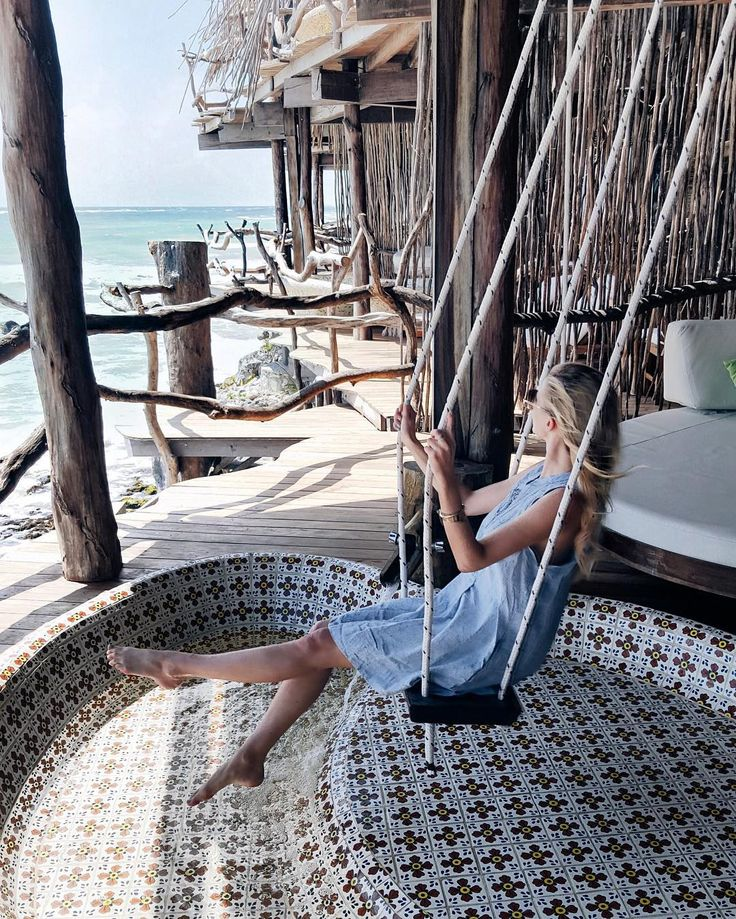 Happiness is having a swing on your balcony - I never want to leave this place.  #ohhtulum #tulum #mexico www.liketk.it/2fNAb by ohhcouture