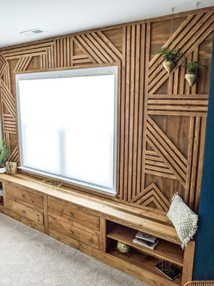 Make The Coolest Wood Accent Wall This Weekend In 2020 Wood Accent Wall Accent Wall Bedroom Accent Wall
