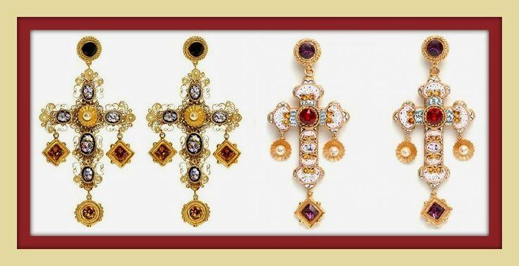 """Il Giardino dei Gelsomini: #NailArt #Tutorial Unghie Gioiello in #Baroque Style ispirate alla Collezione di #hautejewelry """"L'eta dell'oro"""" di #DolceGabbana"""