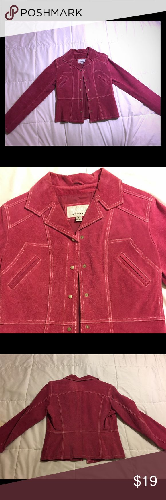 Pink leather jacket This is a Wilsons leather maxima size small, leather suede jacket in perfect condition! Wilsons Leather Jackets & Coats