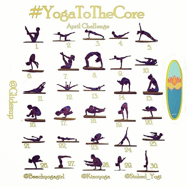 Announcing the #YogatotheCore April Challenge! For April, we are going to focus on your CORE! Having a strong core doesn't just make you look good for summer but is essential for your overall health and wellness in both body and mind. We have put together our favorite, Yoga, Pilates and SUP Yoga exercises this month to really give you an exciting way to work your ABS, BACK, and ARMS.