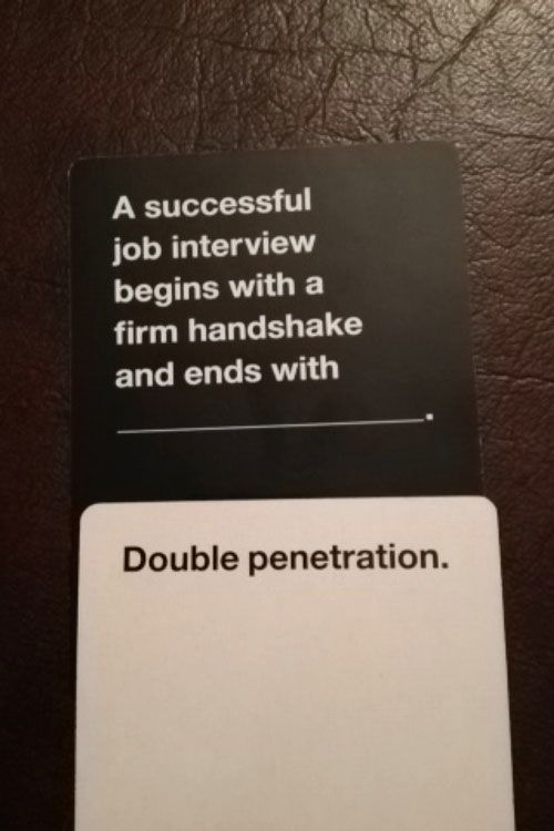 Yay for Cards Against Humanity