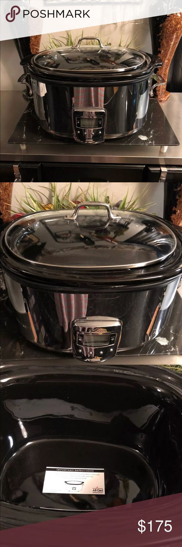 All-Clad Slow Cooker Beautiful chrome digital All-Clad crockpot new never used All-Clad Other