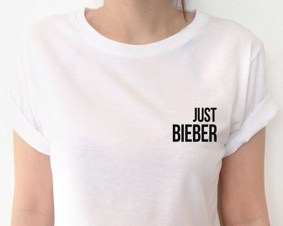 Justin Bieber Black White T-shirt Tumblr Shirt by CheeryBoom