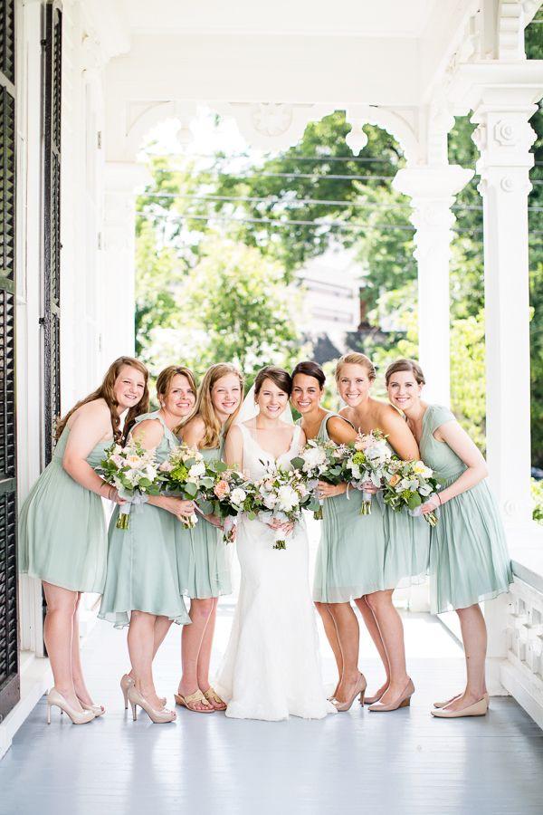 dusty shale bridesmaid dresses | Robyn Van Dyke