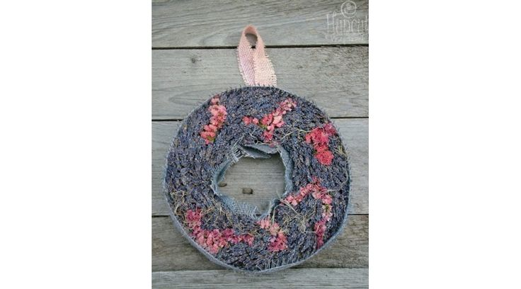 Provencal wreath / Provence gyöngye levendulás falidísz dekoráció
