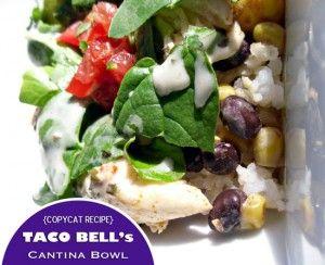 taco bell, cantina bowl, recipe, how to make