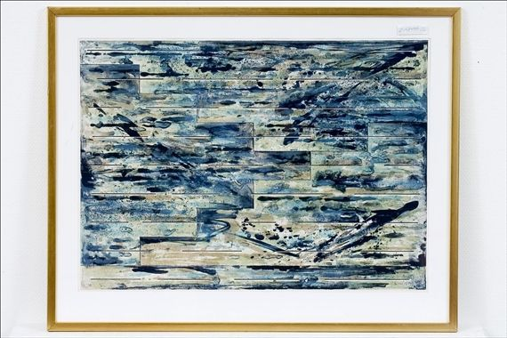 Juhana Blomstedt: Veden alla, 1979, litografia, 53x72 cm - Mutual Art 2016