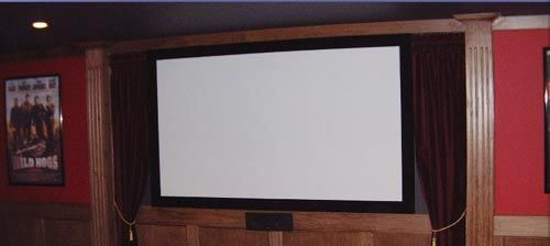 195 A 100 Inch Home Theater Screen With Matte White Screen