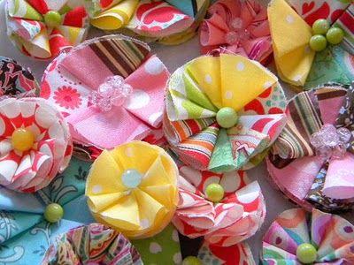 diy fabric flowers #fabric #flowers #diy