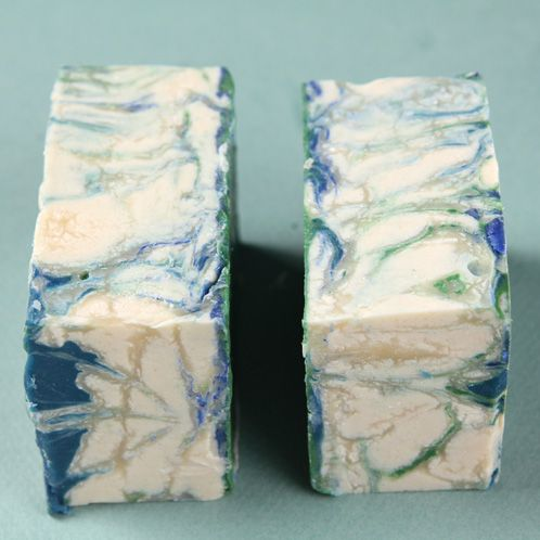 An explanation of glycerin rivers in cold process soaps containing titanium dioxide