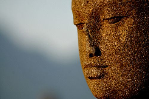 Buddha Statue, Borobudur, Java, Indonesia by gladioli, via Flickr