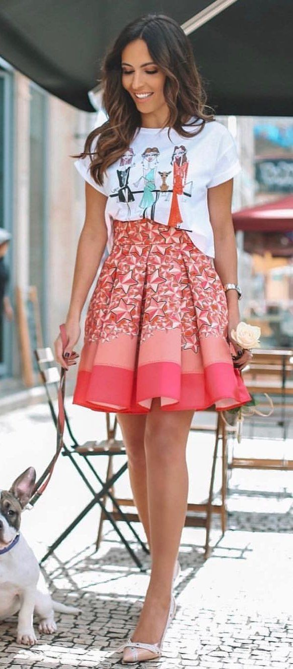 pink and white floral dress #spring #outfits