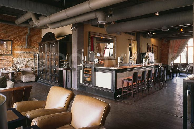 бар интерьер в стиле лофт / loft interior design Архитектурное бюро Шаболовка