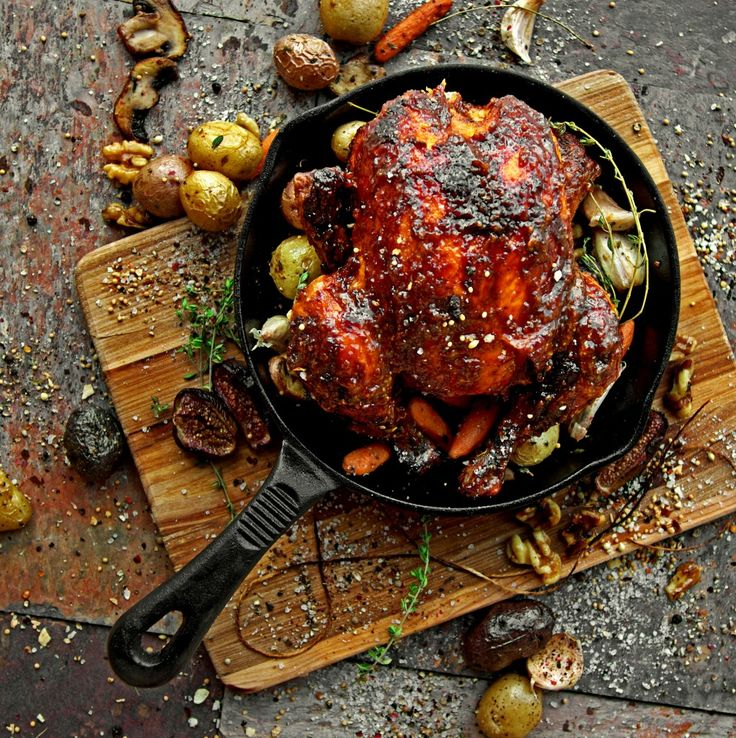 Balsamic-Fig Barbeque Cornish Game Hen | A Bachelor and His Grill