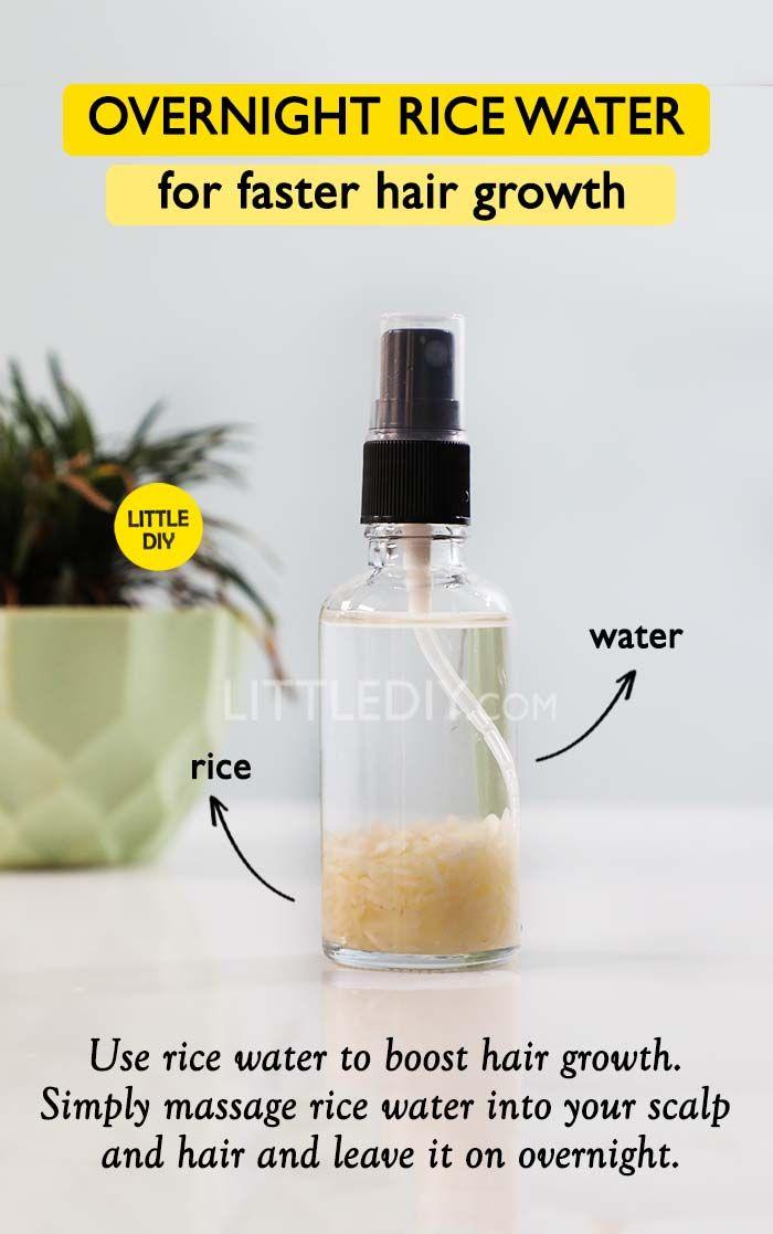 Overnight Rice Water Faster Hair Growth Spray Little Diy Hair Growth Spray Hair Growth Faster Biotin Hair Growth
