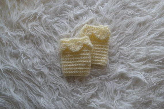 Newborn Leg Warmers Unique Leg Warmers Cream by knitbabyclothes, $13.00
