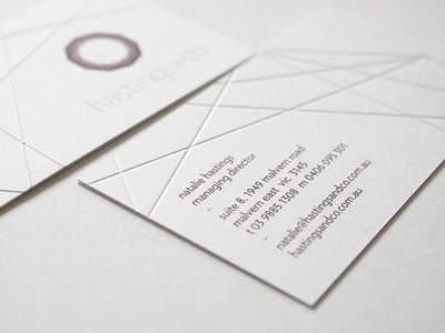 hastings+co Business Card repinned by www.BlickeDeeler.de