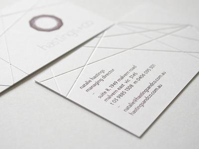 hastings+co Business Card repinned by www.BlickeDeeler.de