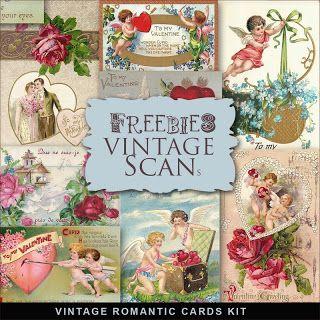 Brindes cartões românticos Kit Vintage