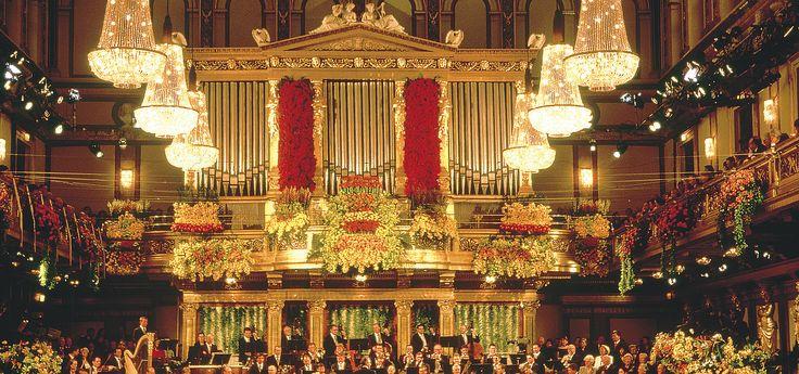"""Sala """"Grosser Saal"""" - la famosa sala dorada del concierto de Año Nuevo en el Musikverein © Österreich Werbung / Lammerhuber"""