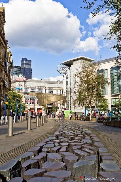 City Centre of Manchester, England