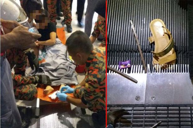 Wanita Cedera Jari Kaki Dalam Insiden Travelator di Pusat Beli Belah di Subang Jaya   Seorang wanita mengalami kecederaan di ibu jari kakinya selepas tersepit di sebuah travelator di sebuah pusat beli belah di Subang Jaya.  Wanita Cedera Jari Kaki Dalam Insiden Travelator di Pusat Beli Belah di Subang Jaya  Jurucakap pusat beli belah itu memberitahu The Star bahawa insiden itu membabitkan seorang wanita 38 tahun.  Menurut satu kenyataan di Facebook pusat beli belah berkenaan hari ini…
