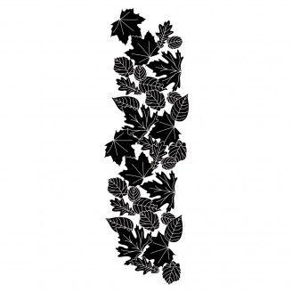 Tampon en bois Bordure de feuilles - Artemio